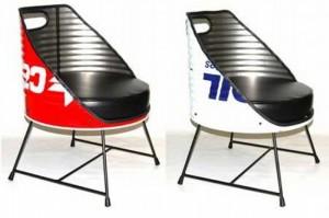 Recycled Metal Drums Chair