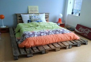 Recycled Pallet Bed Frame Project