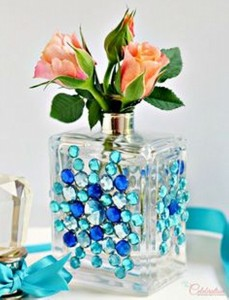 Recycled Perfume Bottle Decoration Idea