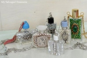 Recycled Perfume Bottle Decoration Piece