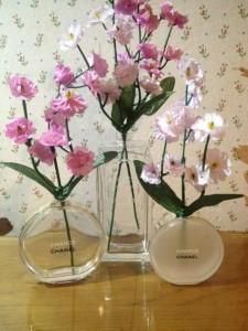 Recycled Perfume Bottle Flower Vase