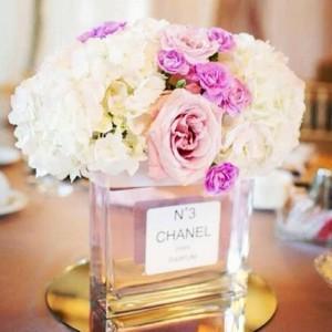 Recycled Perfume Bottle Flowers Vase