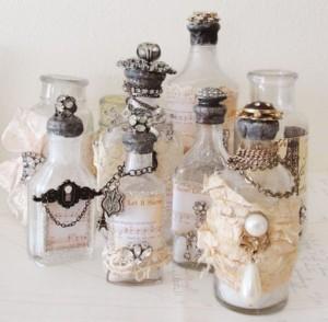 Recycled Perfume Bottles Decor Ideas