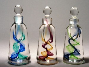Recycled Perfume Bottles Decoration Pieces