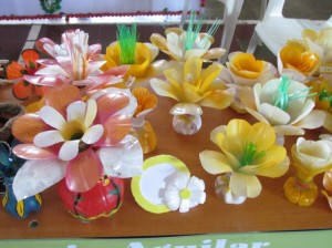 Recycled Plastic Bottles Flowers