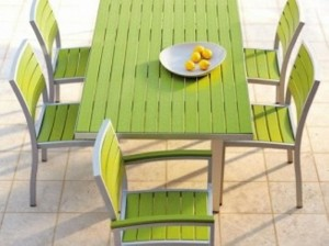 Recycled Plastic Outdoor Dining Table