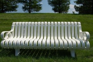 Recycled Plastic White Bench