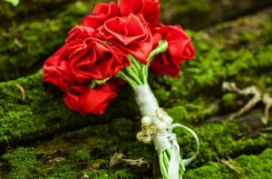 Recycled Red Rose Bouquet