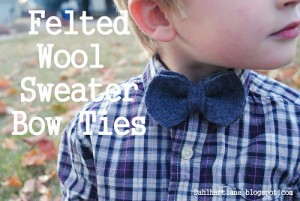 Recycled Sweater Bow Tie
