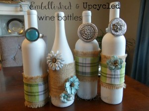 Recycled White Wine Bottles