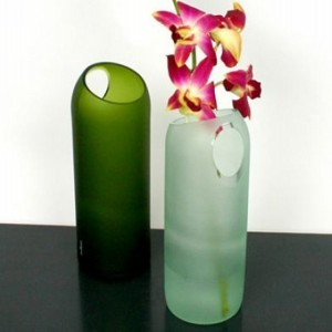 Recycled Wine Bottles Flowers Vase