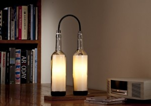 Recycled Wine Bottles Lamp