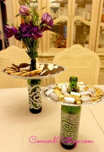 Recycled Wine Bottles Tray Holders