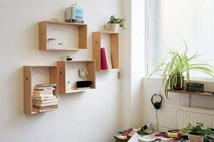 Recycled Wooden Boxes Wall Decor