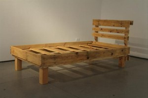 Recycled Wooden Pallet Bed Frame
