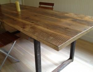 Repurposed Wood Dining Table