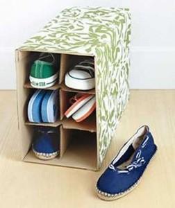 Reuse Cardboard Shoe Rack