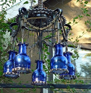 Upcycled Bike Parts Chandelier