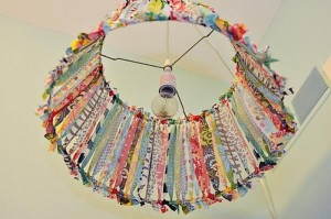 Upcycled Fabric Lamp