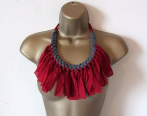 Upcycled Fabric Scraps Necklace