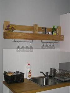 Wooden Pallet Kitchen Shelve