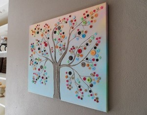 Button Tree for Wall Decor