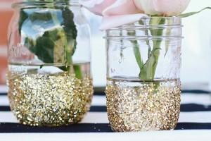DIY Glitterd Vase