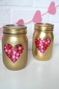 DIY Mason Jars Valentine Day Idea