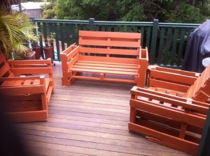 DIY Outdoor Furniture Made from Wooden Pallet