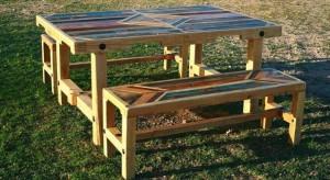 DIY Pallet Outdoor Dinning Table