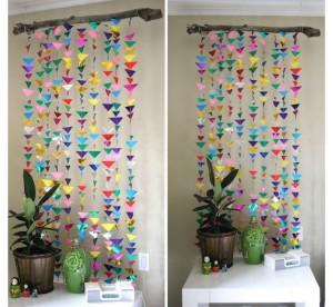 DIY Paper Wall Decorating Idea