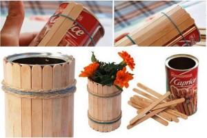 DIY Recycled Stick Vase
