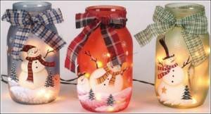 DIY Snowman Jars for Holiday Decor
