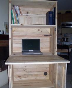 DIY Wood Pallet Computer Desk