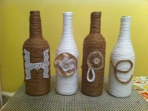 Glass Bottles Decor Crafts