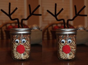 Mason Jars Reindeer for Home Decor