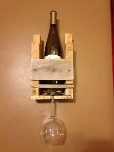 One Glass & One Bottle Wine Rack