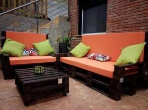 Pallet Black Sofa