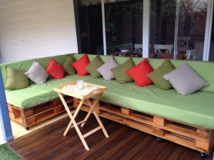 Pallet Couch for Outdoor