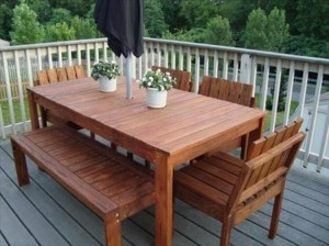 Pallet Patio Dinning Table
