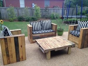 Pallet Patio Sofa Set