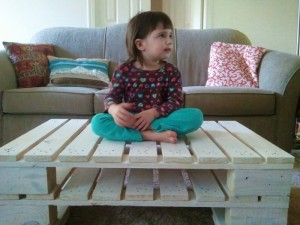 Pallet White Coffee Table