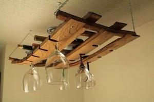 Pallet Wine Rack Hanging