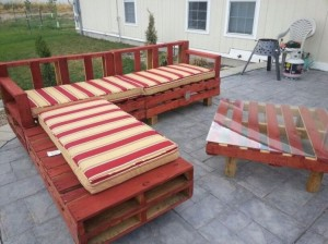 Pallet couch for Patio