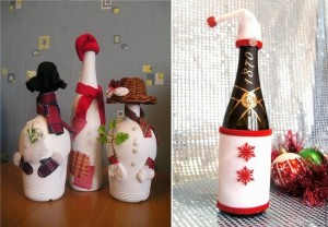 Recycled Glass Bottles for Christmas Decorations