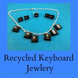 Recycled Keyboard Jewelry