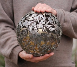 Recycled Keys Ball