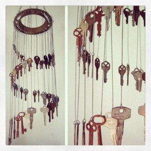 Recycled Keys Wind Chime
