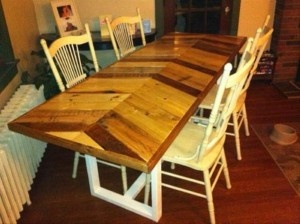 Recycled Pallet Farmhouse Dining Table