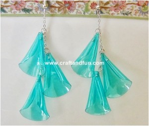 Recycled Plastic Bottles Earring